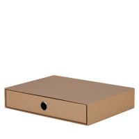 1er Schubladenbox für A4, Kraft