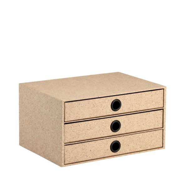 3er Schubladenbox für A4