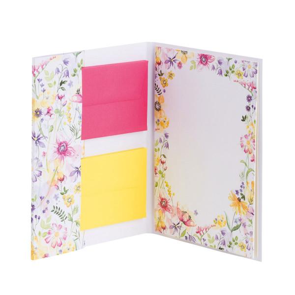 Briefpapier, Blumen Aquarell