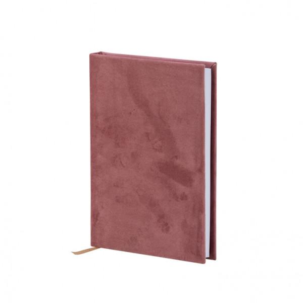 Notizbuch A5, Samt, Rosa