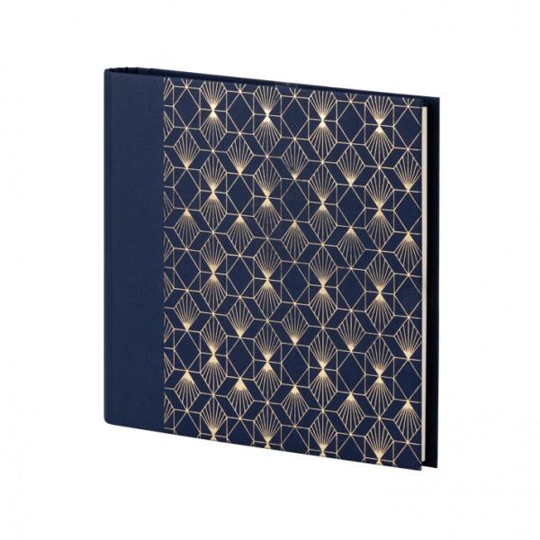 Gäste- und Fotoalbum, Art Deco, Blau