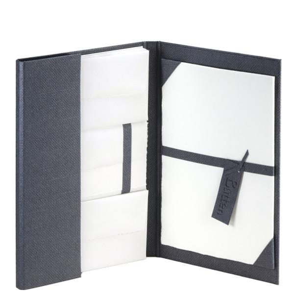 Briefpapiermappe A4, Echt Bütten