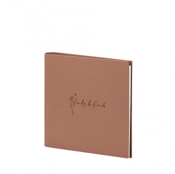 Gäste-/Fotoalbum, family & friends, Natura Zimt