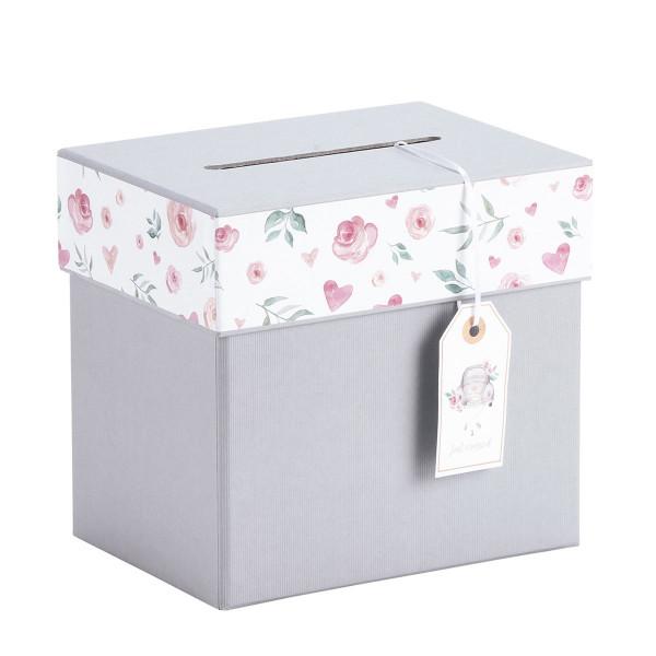Geldbox / Briefbox, Hochzeit Grau