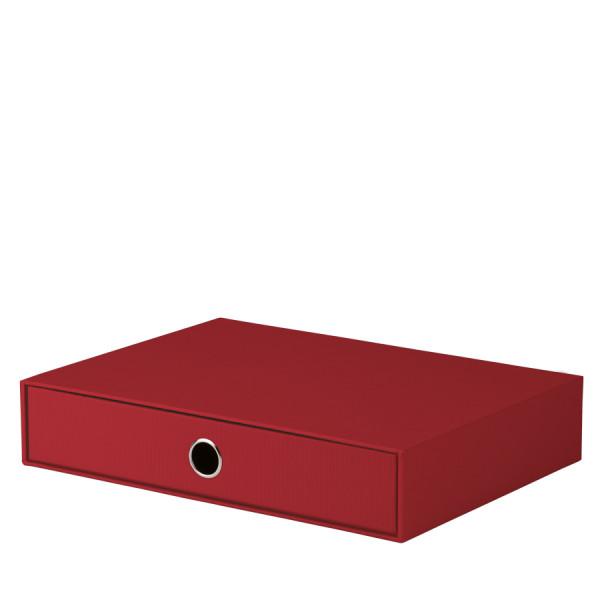 1er Schubladenbox für A4, Rot