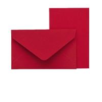 Mini-Karten mit Briefumschlag, Rot