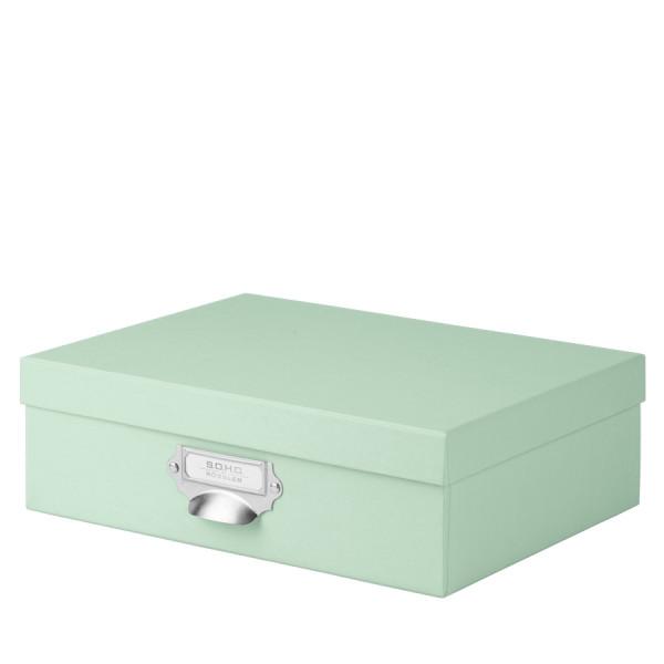 Aufbewahrungsbox mit Griff für A4, Mint