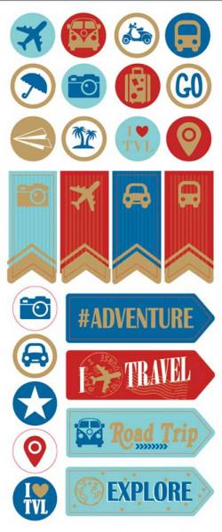 Sticker, Reise