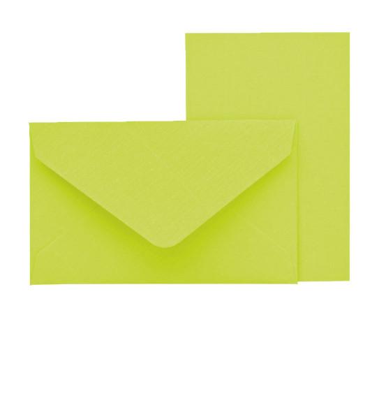 Mini-Karten mit Briefumschlag, Grün