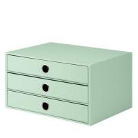 3er Schubladenbox für A4, Mint