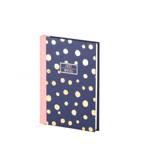 Notizbuch A5, goldene Punkte