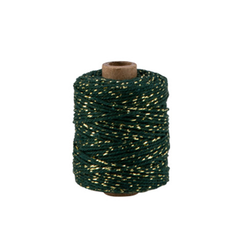 Kordel, Grün mit Gold
