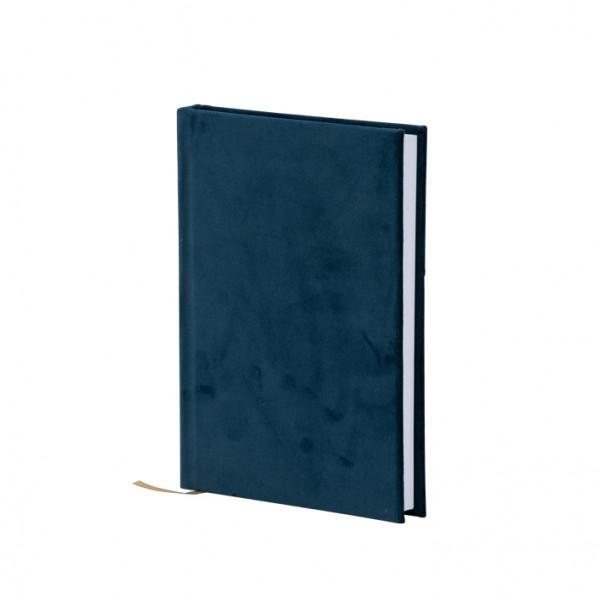 Notizbuch A5, Samt, Blau