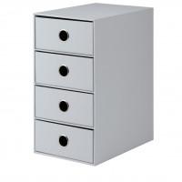 4er Schubladenbox für A5, Stone/Grau