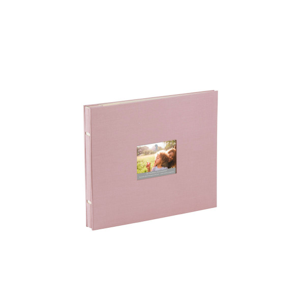 Fotoalbum mit Buchschrauben, Rosa