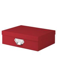 Aufbewahrungsbox mit Griff für A4, Rot