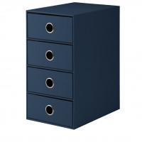 4er Schubladenbox für A5, Navy/Blau