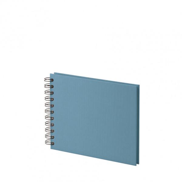 Fotoalbum mit Spiralbindung, Denim/Blau