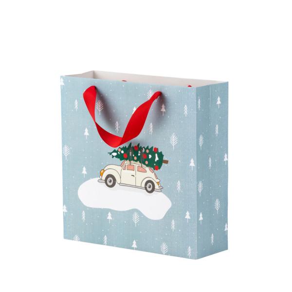 Geschenktüte Weihnachten, Weihnachtsauto
