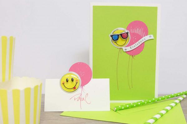 Einladung-Smiley-Kartenwerkstatt-DIY